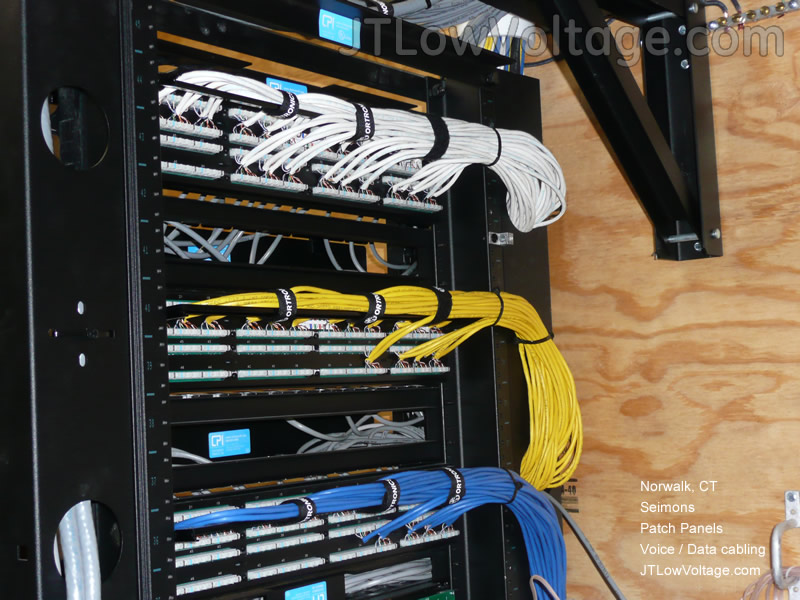 Cabling wiring installation photo gallery jt low voltage patch panel swarovskicordoba Image collections