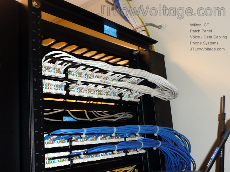 electrician cabling contractor in wilton connecticut rh jtlowvoltage com wiring patch panel to switch wiring patch panel diagram